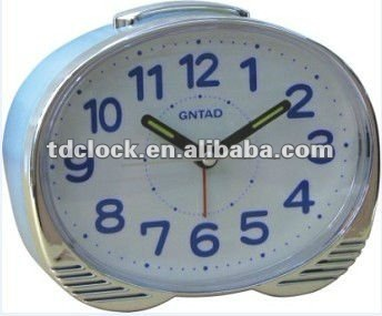 Digital plastic BB alarm house clock,inner bell and music
