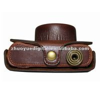 custom leather camera half case case/Bag/Cover for Panasonic LX7