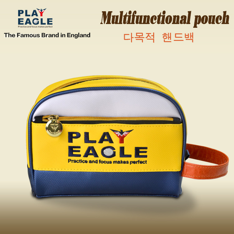 Hot sell original brand golf pouch white navy yellow golf storage bag golf functional bag
