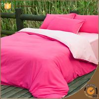 Double Side Solid Color Bedding Set/bed Linens/bed Sheet