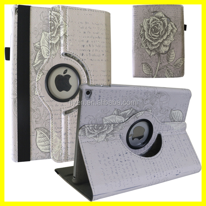 Custom Rotating Case for ipad air 2 Magnetic 360 Leather Cases with Customized Design DIY Artwork for Apple Tablets Wholesale