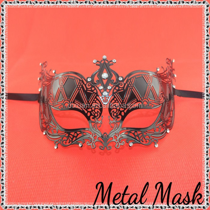 2015 new Black sexy mask Party metal masks