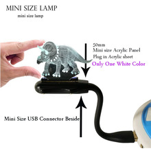 Acrylic LED 3D Animal Lava Dinosaur Jurassic Park Triceratops Night Light Mini Flexible USB laptop Bedroom Mood Luster Kid Gift