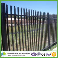 Heavy duty Crimp top 2.4m length square tube security fence agency