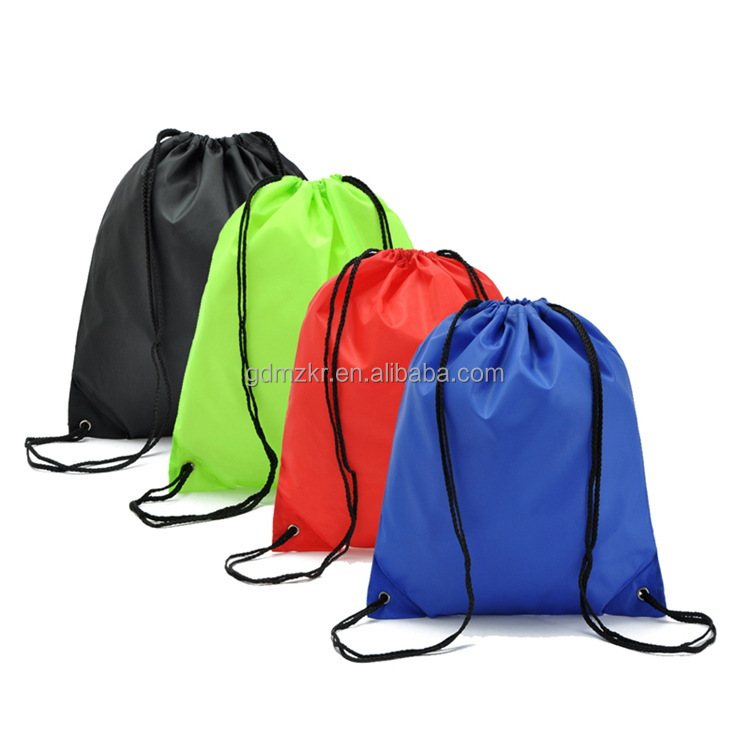 wholesale waterproof nylon drawstring backpack bag for sports