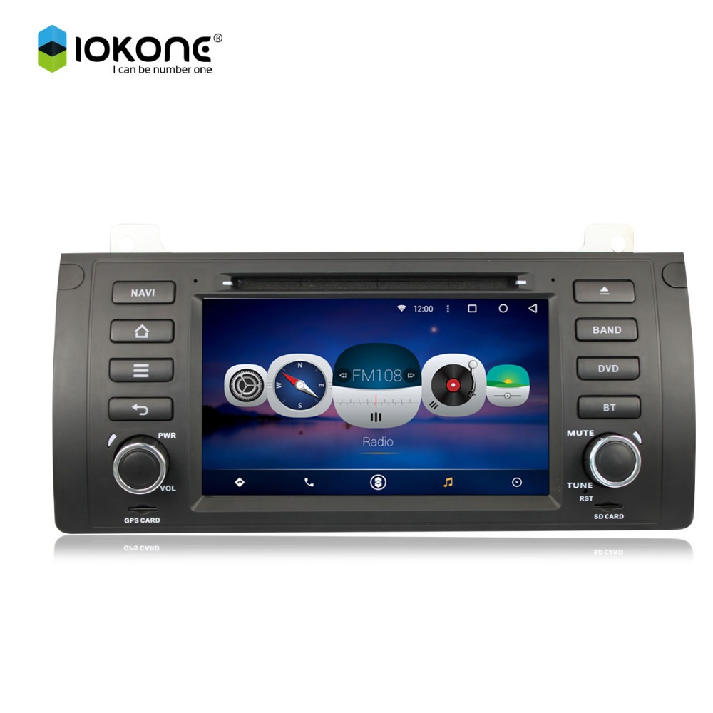 iokone Android 6.0 3G WIFI GPS Bluetooth Car DVD CD MP3 Player for BMW E39 (1998-2003)