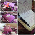 exclusive luxury wedding invitation card box with pearl and metal