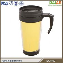 14oz Double Wall Insulated Plastic Travel Coffee Mug with Paper Insert
