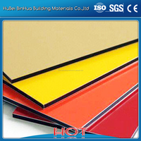 aluminum composite panel specifications yellow red colorful
