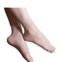 Hot selling wholesale thin transparent short stockings crystal silk stockings sexy black young girl socks