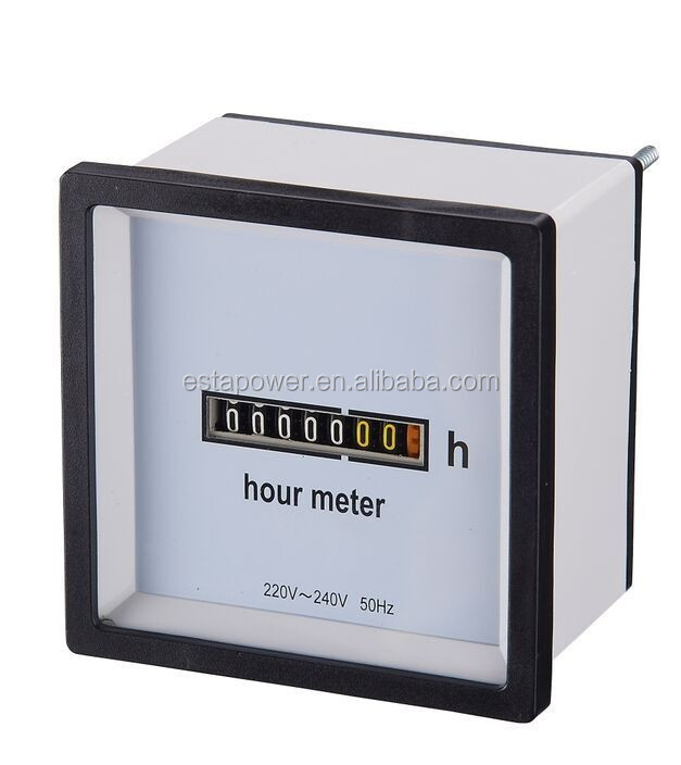 mono-structure vibrating reed frequency meter Hour Meter 220-240V
