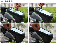 Cycling Bike Bicycle Bag Front Phone Bag Case Holder Zip Pouch for iPhone Mobile Cell phone