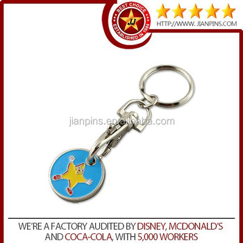 Bottom price metal trolley keychain