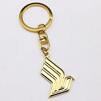 custom metal handbag helmet graduation plating gold keychain