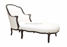 Alime custom hotel white italy classic wooden lounge sofa chaise for commercial hotel bedroom and living room furniture ALC625