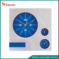 Terracotta garden clock with thermometer wall clock with temperature and humidity