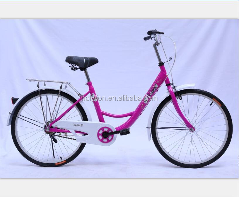 26inch COOLKI cheap steel purple color city <strong>bike</strong> lady <strong>bike</strong>