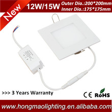 200*200mm 15 watt square led lighting recessed panel light