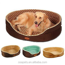 Round Dog Bed Cushion Linen Non Slip Pet Dog Beds