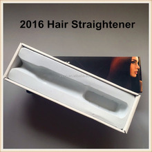 2016 New Hair Straightener Straightening Comb Brush Anti Static with 6-speed PTC Heating Brush