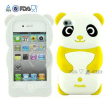 silicone gel case for apple iphone 3gs ,Newsale Lovely Cartoon 3D soft silicone cover case for Apple iphone 5 5g