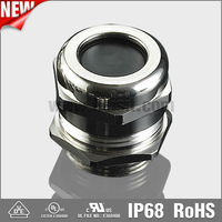 VDE/UL approved silicon rubber insert IP68 waterproof metal cable gland