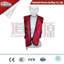 Personalized Automatic Ce Certificate Inflatable Life Jacket New Product