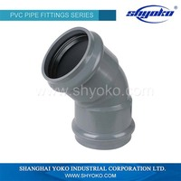 China Factory Wholesale pvc fitting 22.5 degree elbow