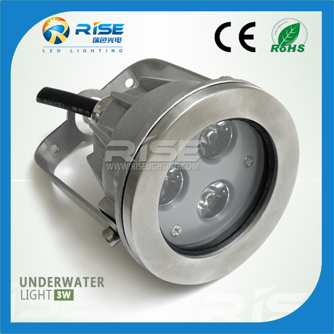 low voltage IP68 3W RGB led underwater jet led fountain light