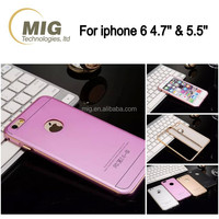 2 in 1 frosted metal aluminum hard mobile phone case cover for apple iphone 6 6s