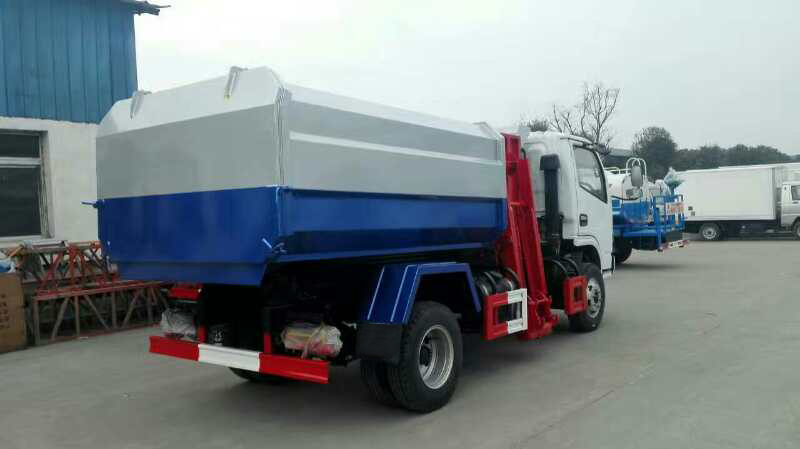 Small 4x2 Hydraulic Lifter Bin Garbage Truck for transport refuse
