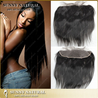 mongolian silky straight closure frontal lace closure 13*4 natural color density 120%