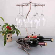 metal iron hanging wine rack