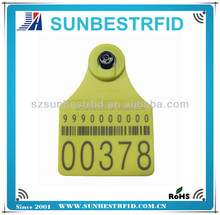 125khz or 134.2khz rfid ear tag for animal management ISO11784/11785, ISO14443A or ISO15693