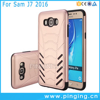 Factory price hard pc tpu combo phones mobile case for samsung j7 2016 ,2 in 1 back cover for samsung j7 2016