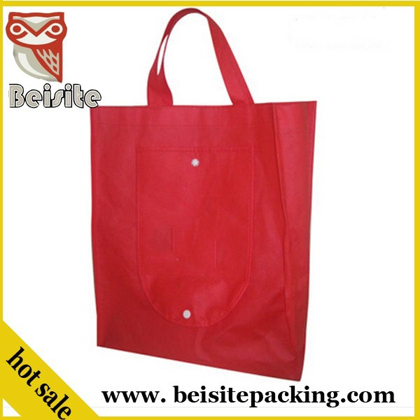 Colorful used plastic paper folding shopping trolley bag with 2 wheels brand name making machine