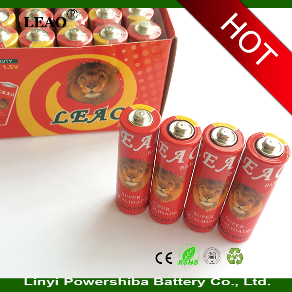 China manufacturer supply AA 1.5V dry batteries Carbon zinc battery