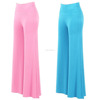 Women's Soft Wide Leg Palazzo Pants with High Fold Over Waist Band Ladies Yoga Casual Loose Trousters Wholesale Custom