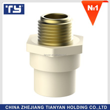 TY Manufacturer good quality CPVC Water supply SCH D2846 hype Pipe Fittings Rubber Joint male copper thread coupling(C)