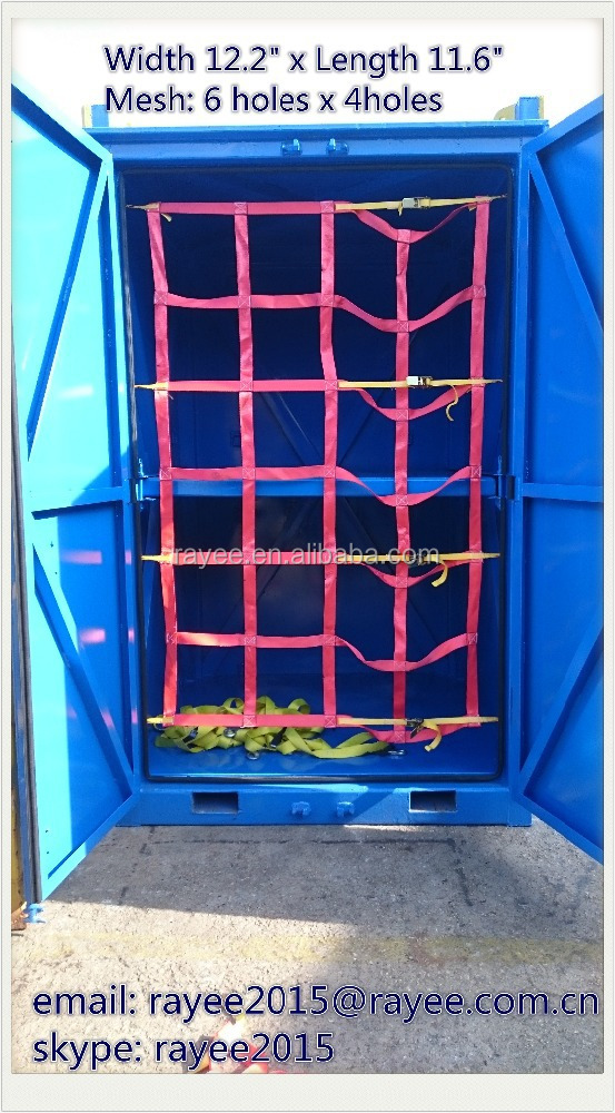 "2"" width Webbing Container Cargo Net, Polyester material 6ft x 8ft Cargo Lifting net/rede de carga elastica"