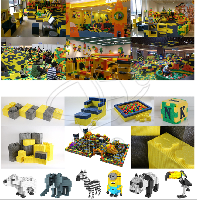 Environmentally-friendly Plastic Building Blocks For Children