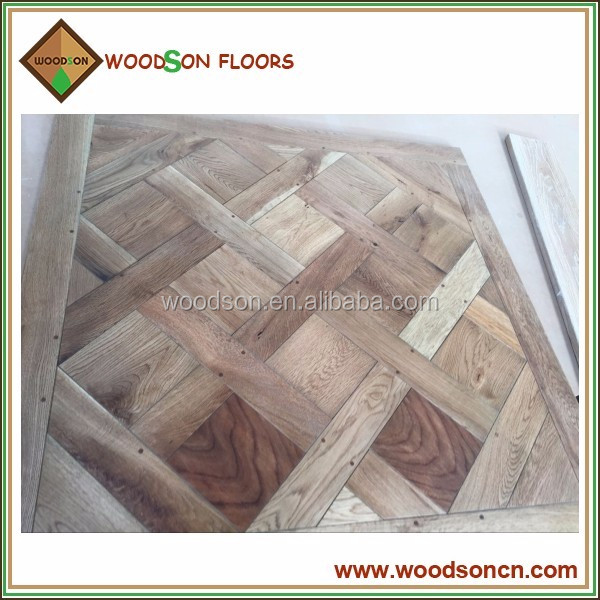 Fully Hand Made Oak Solid Versailles Parquet Floors Tile
