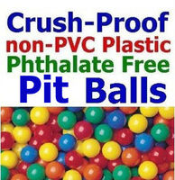 "Pack Of 50 pcs Crush-proof non-PVC Plastic Ball Pit Balls in Multi Colors Phthalate Free 3.1"" Air-Filled - Guaranteed Crush-Proo"