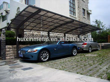 All aluminium solid polycarbonate awning car parking canopy