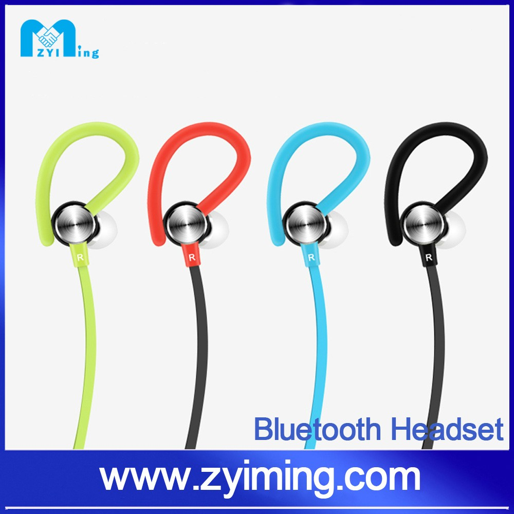 Zyiming 2017 hot sell healthy sport in-ear wireless bluetooth headphone with noise canceling for smart phone