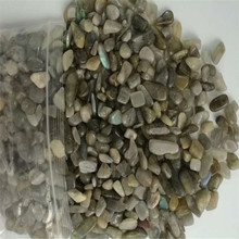Wholesale natural labradorite quartz crystal stone gravel for fish tank