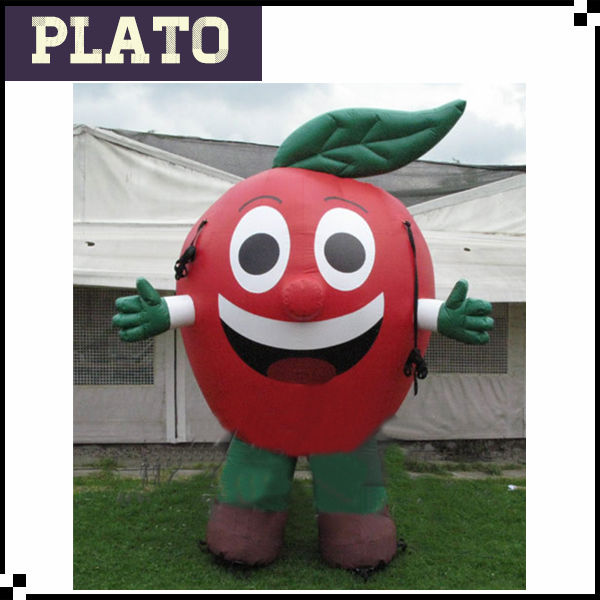 Giant Christmas inflatable apple costume for customize