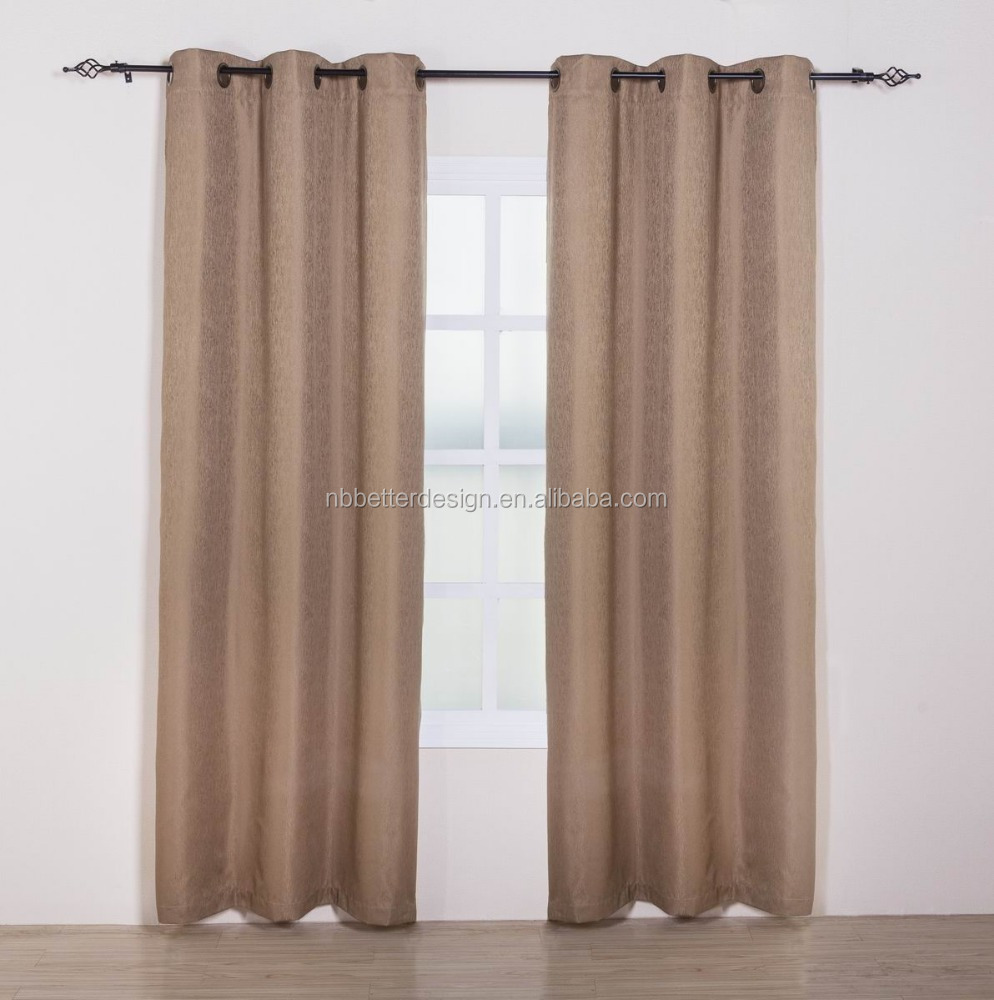 1PC JACQUARED HOME GOODS CURTAINS WITH GROMMETS FOR LIVING ROOM