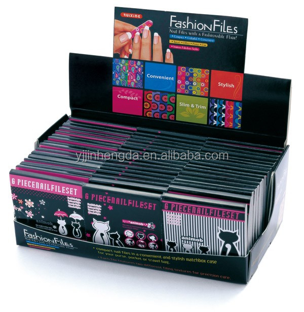 new products mini match box nail file