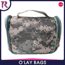Wholesale Camouflage Nylon Hanging Travel Kit Toiletry Bag